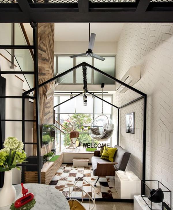 wyj tkowe skandynawsko industrialne mieszkanko w singapurze small cabin with loft loft small cabin plans 20x24 cabin